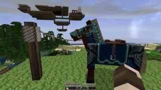 Minecraft Horses - How to Craft and Use a Lead!  Horse Leash!  [1.6.2]