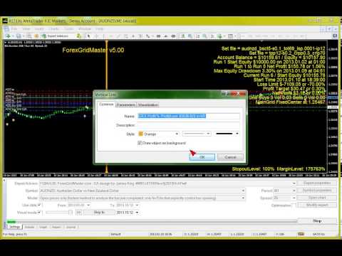 ForexGridMaster v5 in Strategy Tester - Automatic MT4 EA Forex Trading Robot