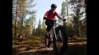 Maastopyöräilyä Ylläksellä ja Käsivarren välituntureilla