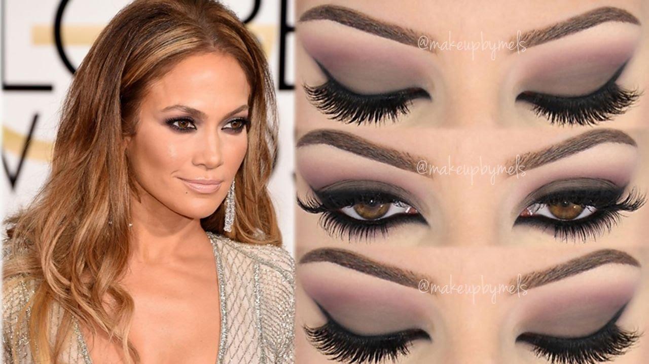 Jennifer Lopez Golden Globes 2015 ♡ Makeup Tutorial ♡ (English ...