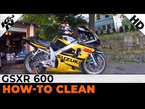 How to clean a K&N filter in a 02 GSXR 600