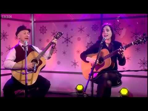 "Elizabeth McGovern performing ""LA Days"" on BBC Breakfast"