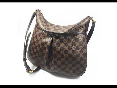 Authentic Louis Vuitton Bloomsbury PM Shoulder Bag Crossbody Damier Ebene N42251 LA072