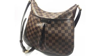 Authentic Louis Vuitton Bloomsbury PM Shoulder Bag Crossbody Damier Ebene N42251 LA072