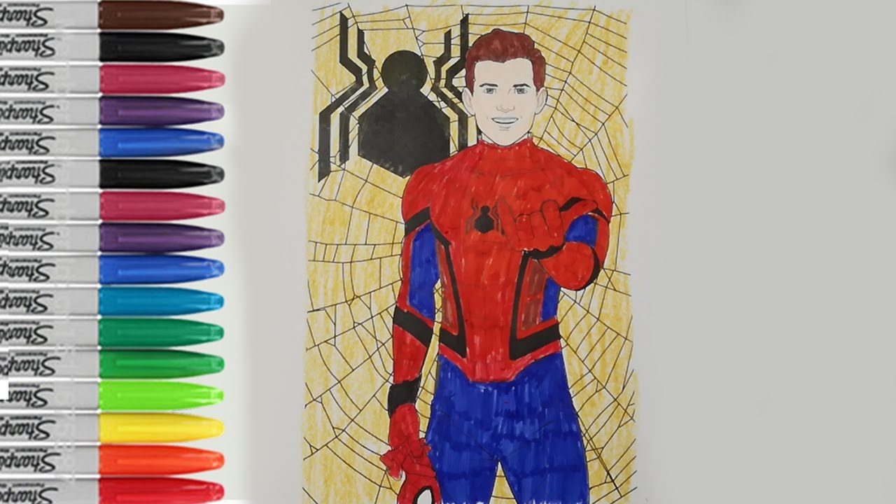 Spiderman Homecoming Coloring Pages The Avenger Hero Fun SAILANY Kids