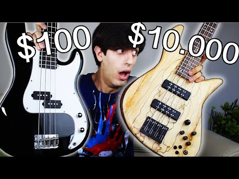 Download Youtube: $100 Bass Guitar Vs.  $10,000 Bass Guitar