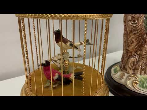 "Reuge Singing Bird Couple ""Red And White"""