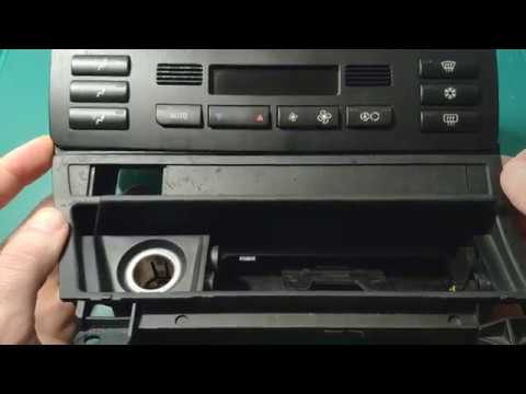 BMW E46 DOUBLE DIN CAR STEREO RADIO INSTALLATION DASH KIT BEZEL A//C RELOCATION