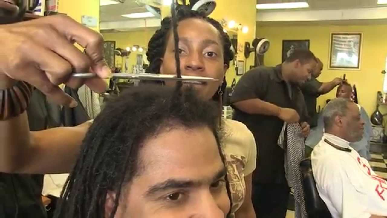 How To Cut Dreadlocks Off Dan Brown The Barber After 14 Years Youtube