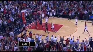 Paul Pierce hits UNREAL 3-pointer at the buzzer to force OT vs Hawks! (but didn