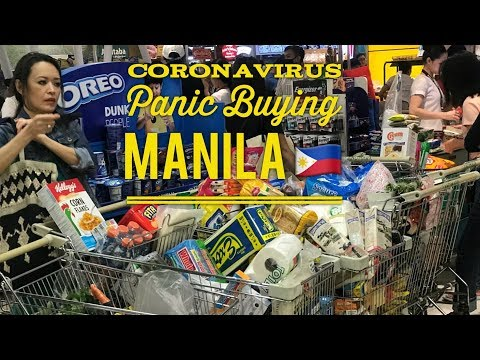 Coronavirus Panic Buying in Manila Philippines: 35 Confirmed Cases of COVID-19