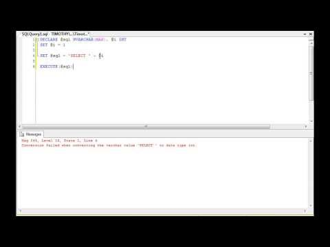 TSQL ERROR: Conversion Failed When Converting The Varchar Value [VALUE] To Data