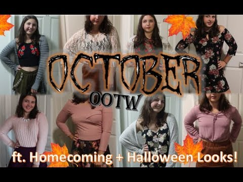 [VIDEO] - October OOTW: Fall Outfits of the Month | GlitteryCassie 2
