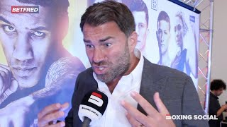 """I WOULD HAVE BEEN HUNG!"" EDDIE HEARN ON FURY WIN/JOSHUA-RUIZ 2/ARUM/MILLER/WHYTE/WBC & YORK HALL"