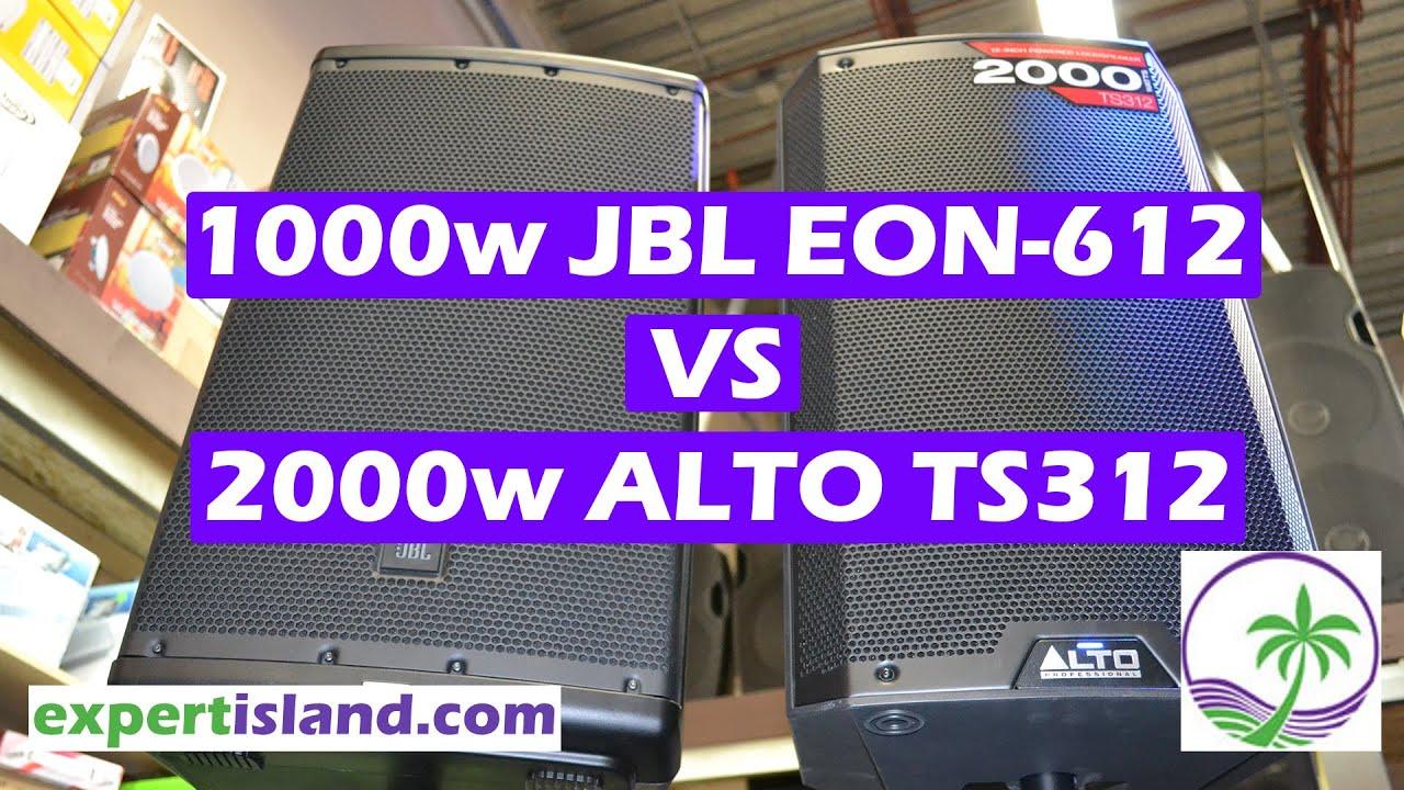Sound TEST JBL EON612 vs Alto TS312 Head to Head comparison