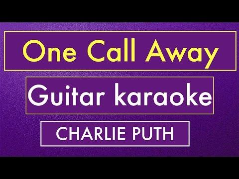 One Call Away - Charlie Puth   Karaoke Lyrics (Acoustic Guitar Instrumental)