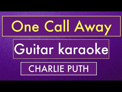 One Call Away - Charlie Puth | Karaoke Lyrics (Acoustic Guitar Instrumental)