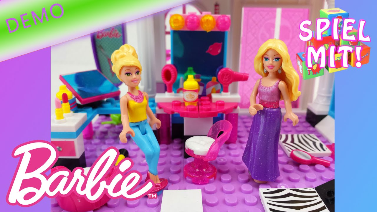barbie deutsch friseursalon demo mega bloks beautysalon von spiel mit mir kinderspielzeuge. Black Bedroom Furniture Sets. Home Design Ideas
