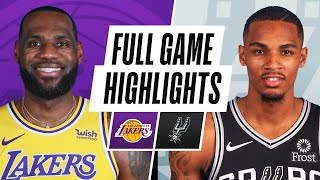LAKERS at SPURS | FULL GAME HIGHLIGHTS | December 30, 2020