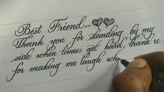 Beautiful calligraphy writing   neat handwriting with calligraphy pen