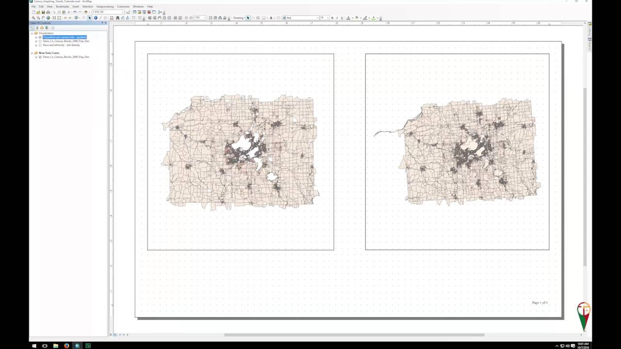 Creating and using multiple data frames in ArcMAP