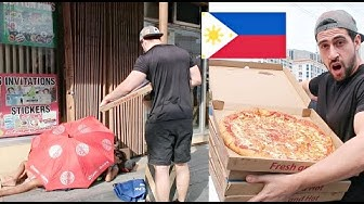 Giving HOMELESS Filipinos Giant Pizza. See what HAPPENS NEXT 😭🇵🇭