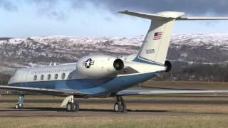 USAF C37 (GulfStream V) at Glasgow Airport