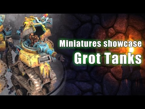 Grot tanks painting commission for Gaming Mayhem