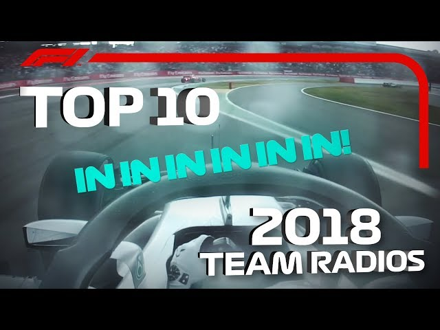 Top 10 Team Radio Clips of 2018