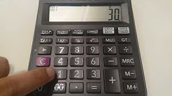 How to calculate gross profit margin on calculator