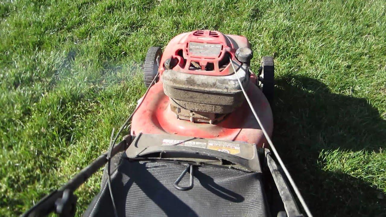 """Troy Bilt 21"""" Push Lawn Mower Old Moldy Craigslist Find ..."""