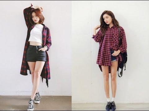7 Cách Mix áo Sơ Mi Form Dài Rộng Kiểu Hàn Quốc