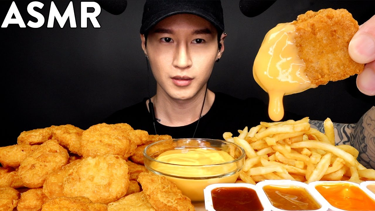 Asmr Cheesy Chicken Nuggets Fries Mukbang No Talking Eating Sounds Zach Choi Asmr