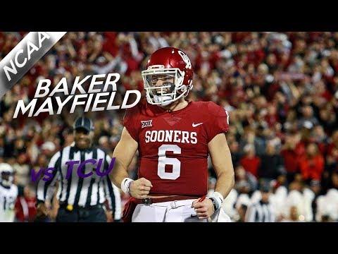 Baker Mayfield Highlights vs TCU // 18/27 333 Yards, 3 TDs // 11.11.17