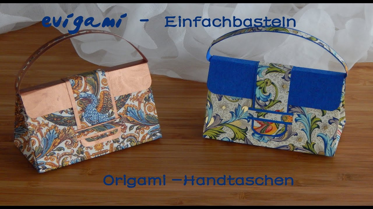 origami handtasche von evigami youtube. Black Bedroom Furniture Sets. Home Design Ideas