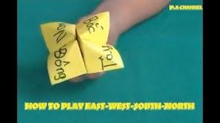Hướng dẫn gấp ĐÔNG-TÂY-NAM-BẮC-Xếp giấy Origami