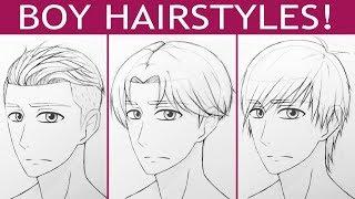 How to Draw 3 Manga Boy Hairstyles!