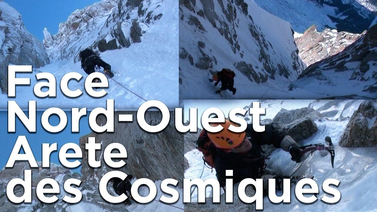 1c5c3a2cca44d Face Nord-Ouest de L  Arête des Cosmiques Aiguille du Midi Chamonix  Mont-Blanc montagne alpinisme