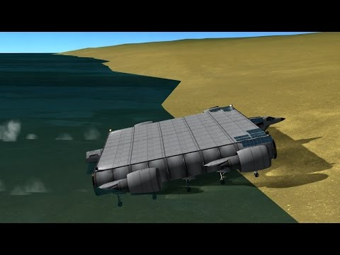 KSP - Amphibian Landing  Platform Testdrive