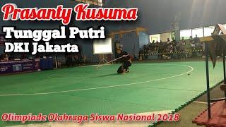 Prasanty Kusuma Pencak Silat Tunggal Putri DKI Jakarta O2SN Nasional 2018 Yogyakarta