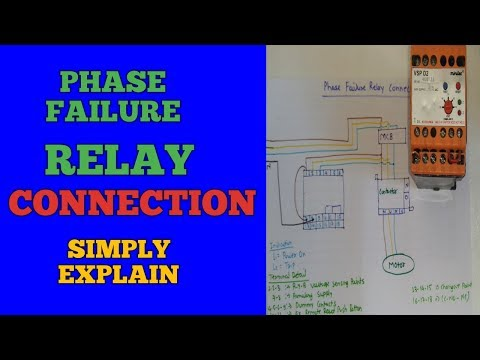 phase failure relay connection installation in motor starter youtube Phase Failure Relay Wiring Diagram