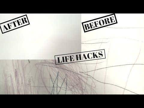 DIY/Life Hacks/How to remove Pencil & crayon marks from walls