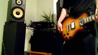 Gibson Les Paul Guitar Hooked up to Sony Receiver