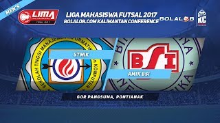 STMIK Pontianak VS AMIK BSI di LIMA Futsal Bolalob Kalimantan Conference 2017