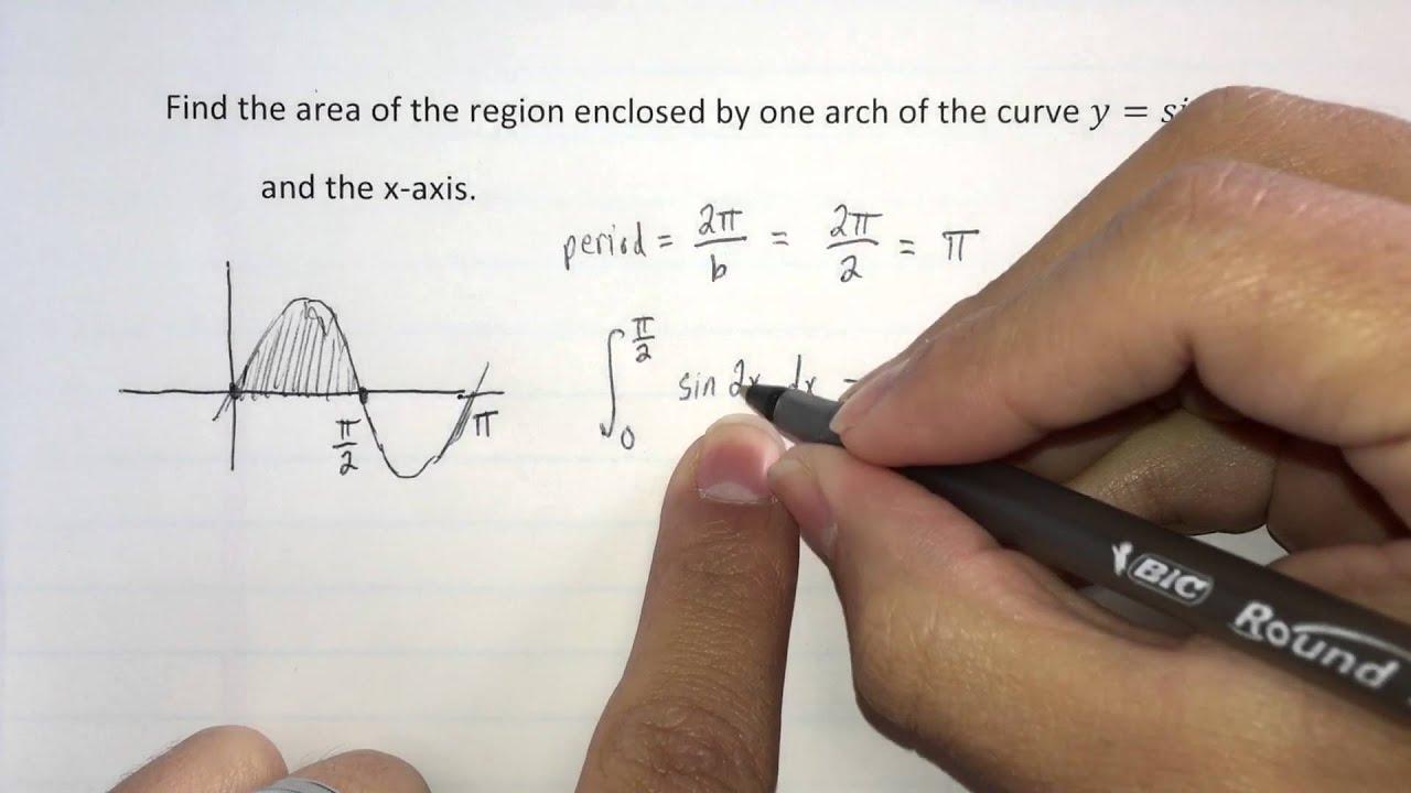 Calculus: Area Under Curve 3: Find Bounds, Find Area Calculus: Area Under