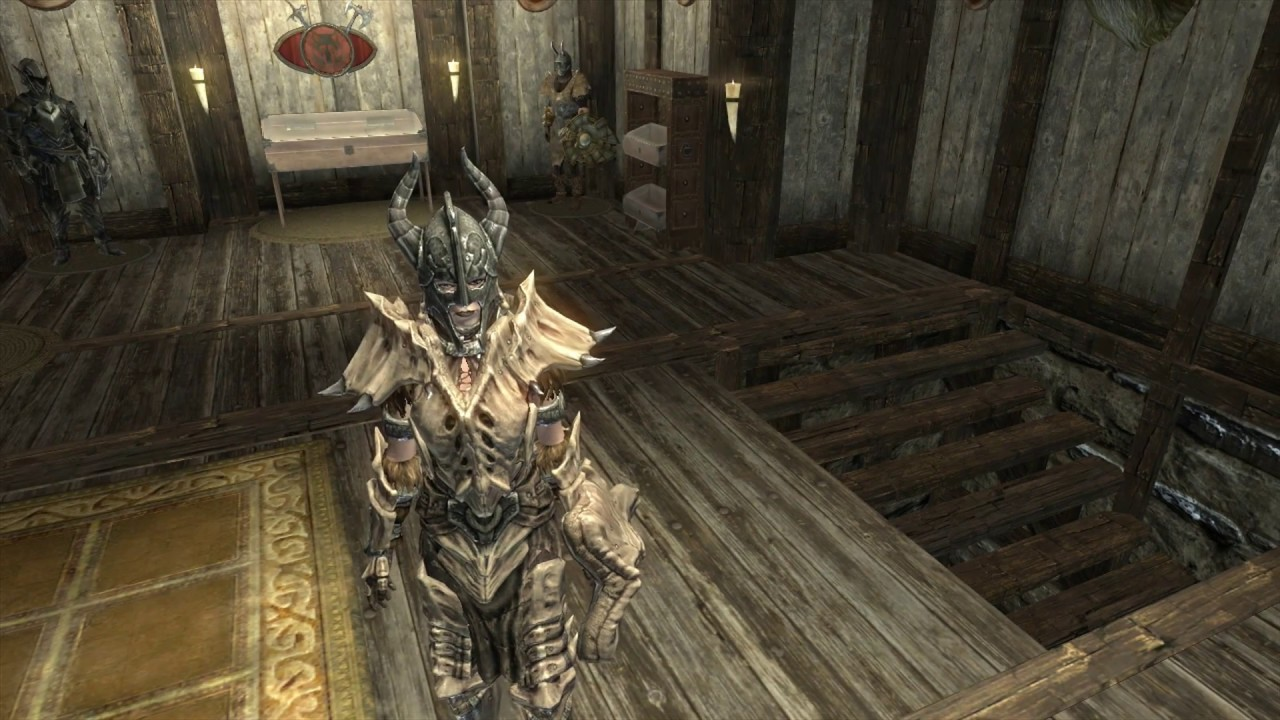 & Skyrim - Female Fashion Show - Dragonplate Armor - YouTube