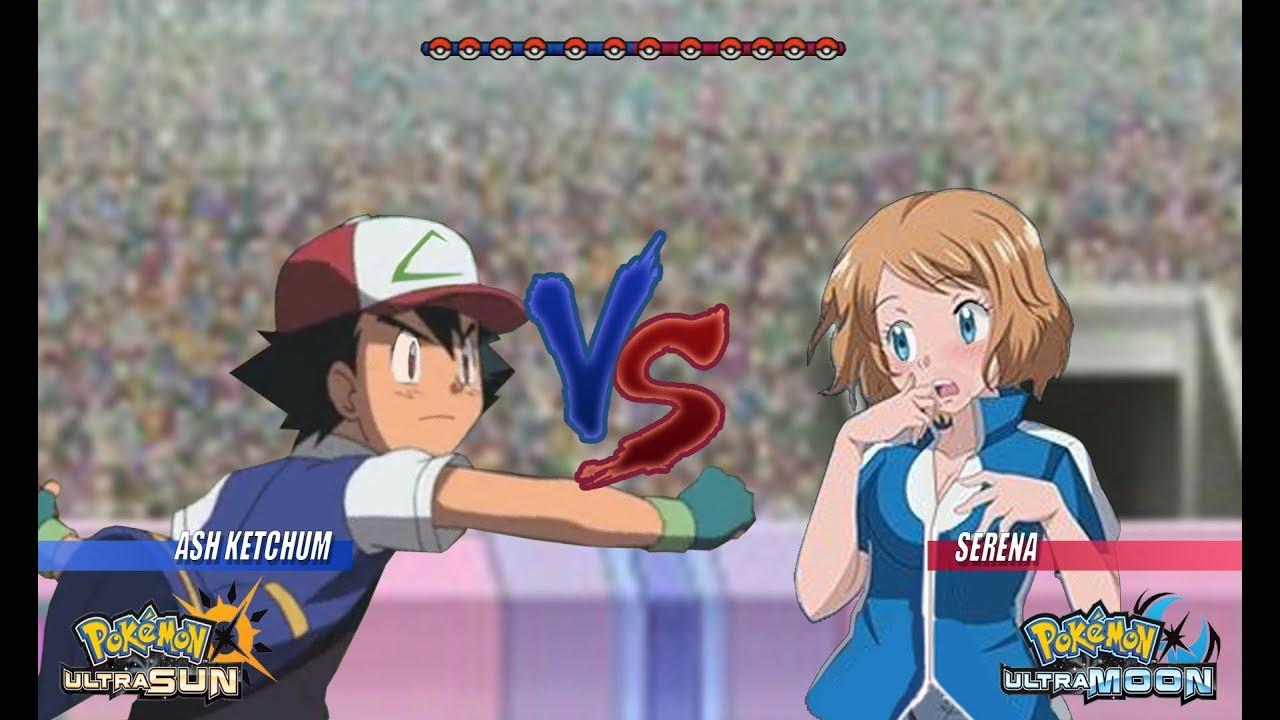 Pokemon Battle USUM: Kanto Ash Vs Serena (Pokémon Kanto Vs ...