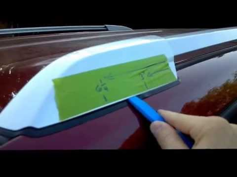 2008 Toyota Highlander Remove Roof Rail End Caps Youtube