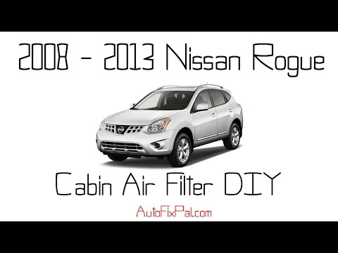 how to change nissan rogue air filter