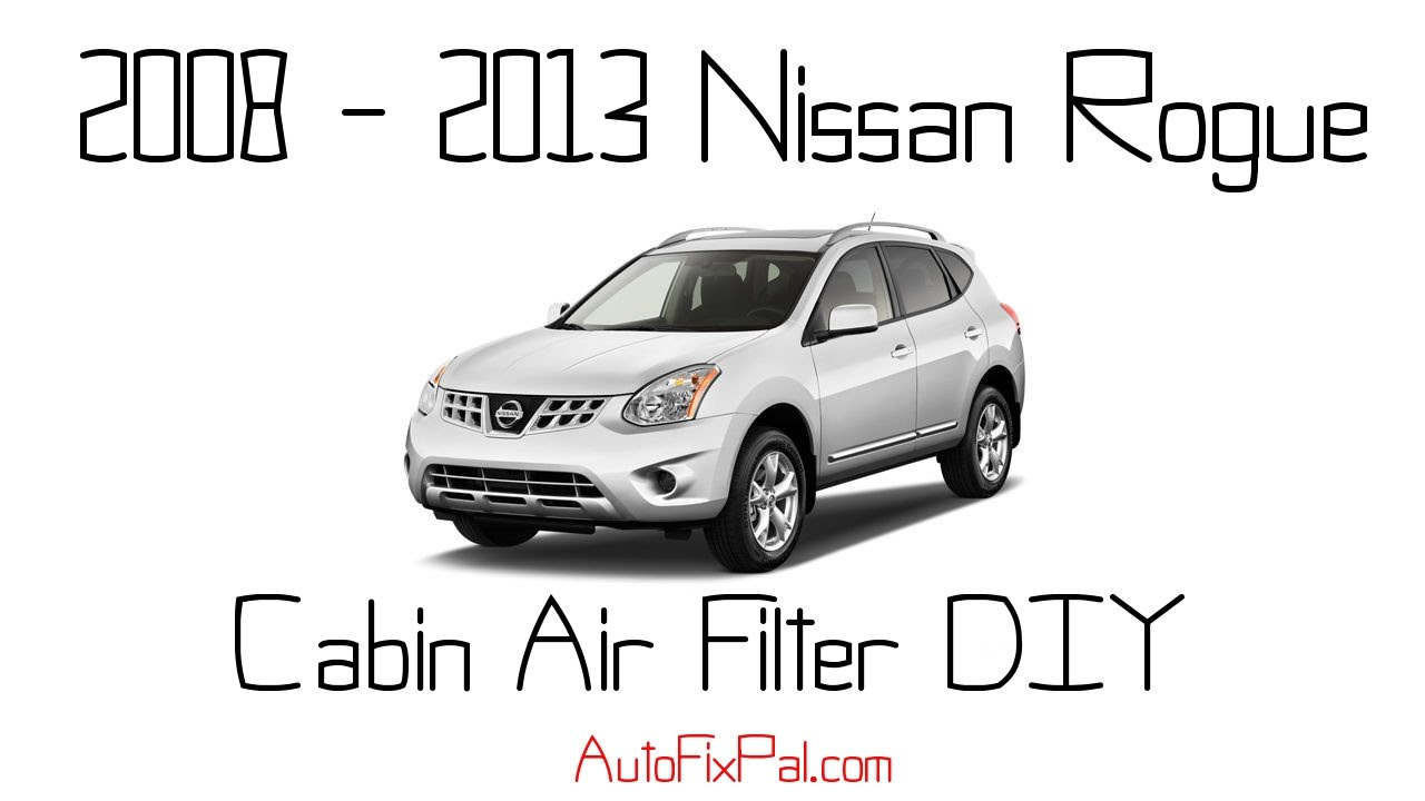 2008 to 2013 nissan rogue cabin air filter replacement youtube. Black Bedroom Furniture Sets. Home Design Ideas